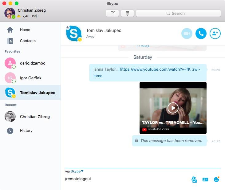 How to delete Skype account Mac screenshot 002