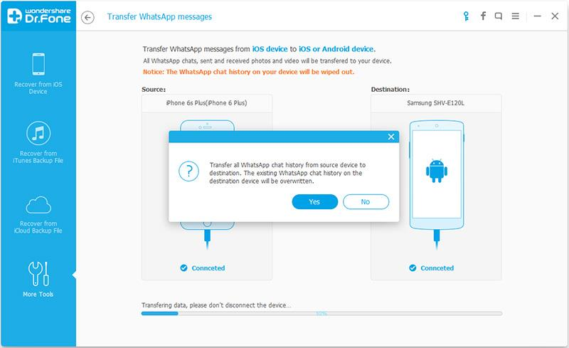 migrate WhatsApp message from iPhone to Android