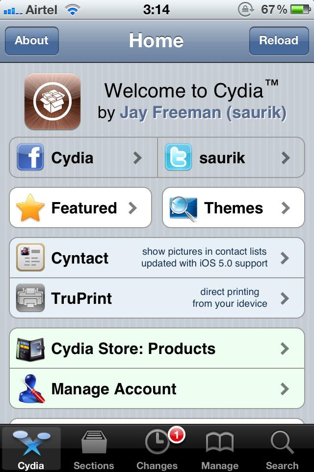 After jailbreak a Cydia app will be available.