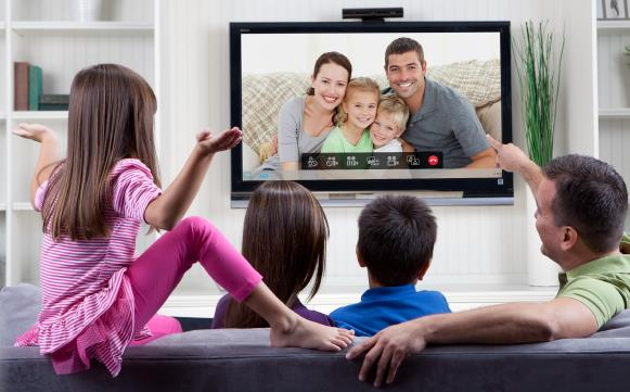 Use Skype on TV in the living room