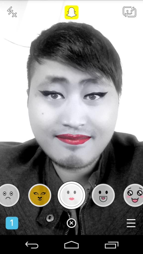 snapchat face effect