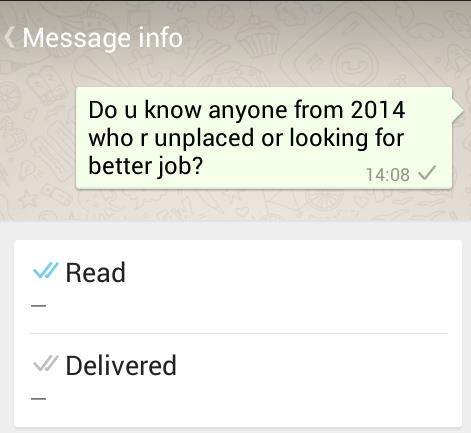Message neither delivered nor read