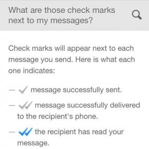 meaning of checkmarks in whatsapp