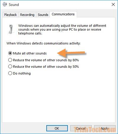 Windows 10 Auto-Mute During Phone Calls