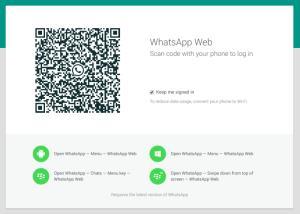 scan code whatsapp