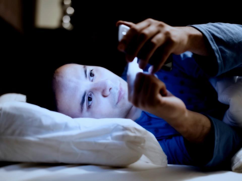 phone iphone insomnia sleep bed night