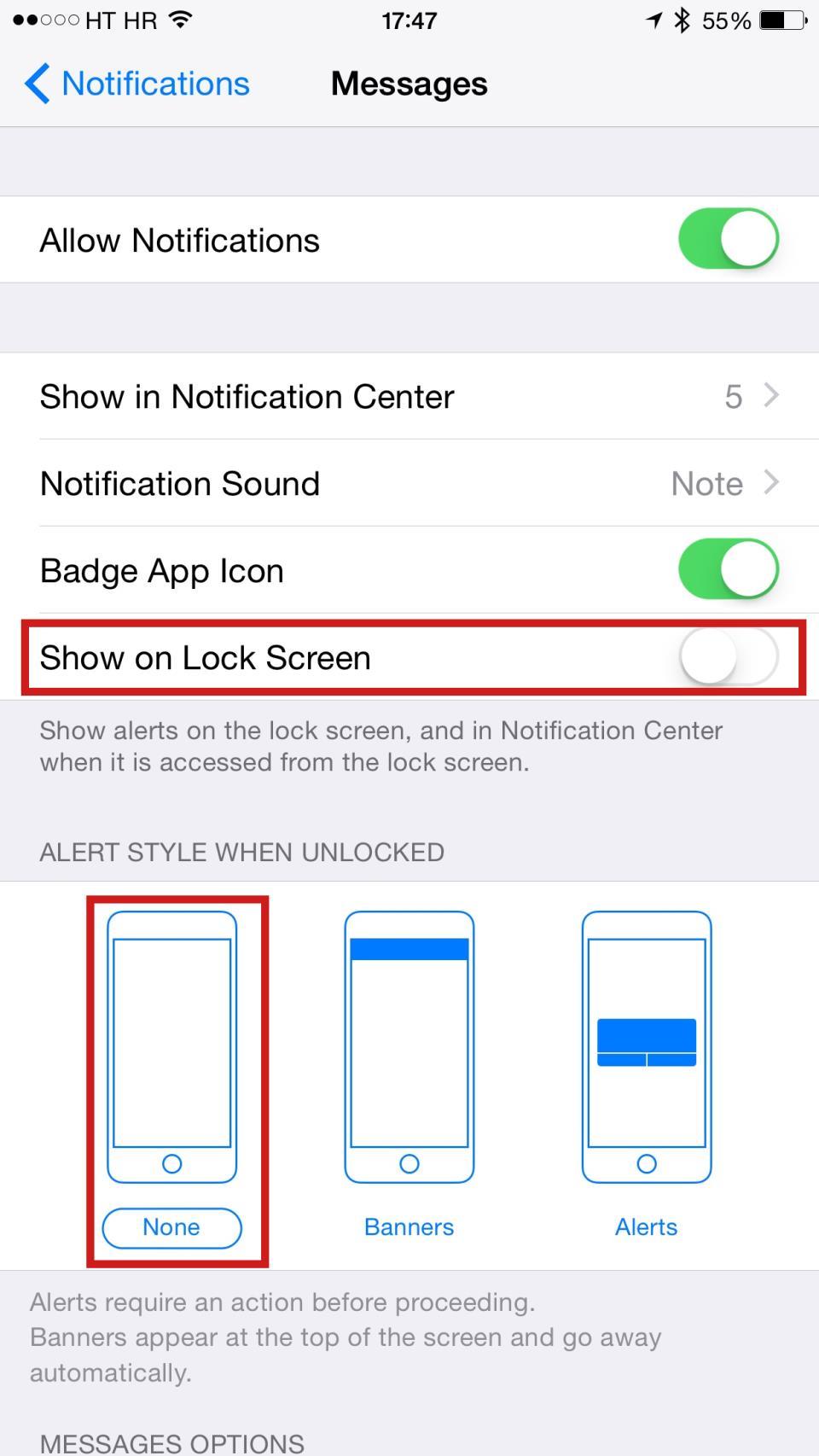 iOS Messages Arabic string bug iPhone screenshot 003