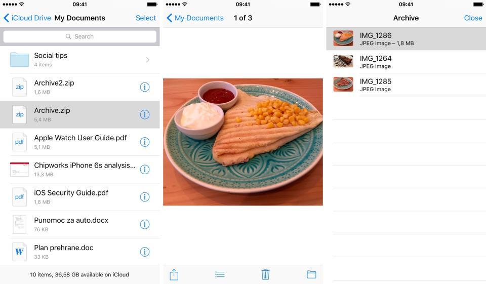 iCloud Drive view attachments iPhone screenshot 001