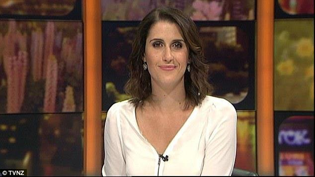 Despite the One News reporters receiving an annual wardrobe allowance of $3000 and an additional make-up allowance of $1,500 Nadine Chalmers-Ross (pictured) is sometimes seen in Ms Petrie's cast offs