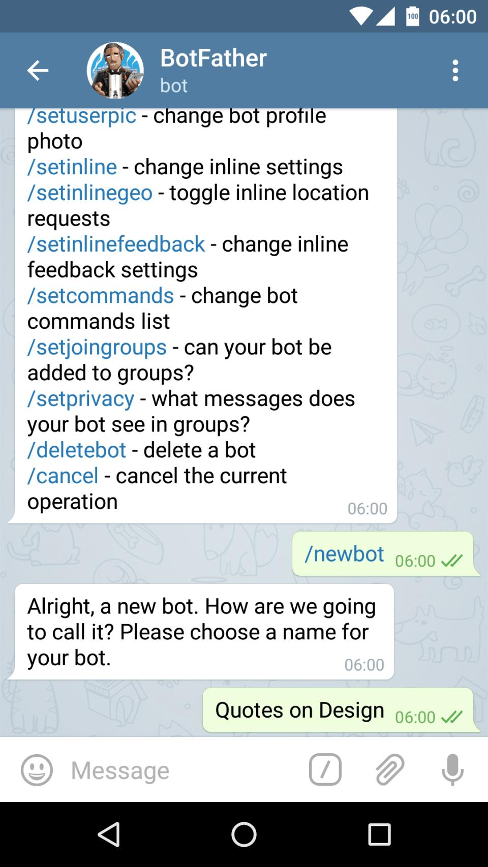 Give your bot a name