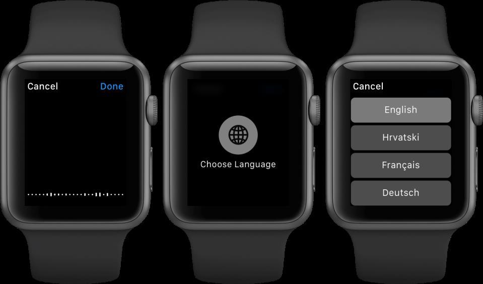 watchOS 2 Dictation language Apple Watch screenshot 002
