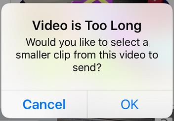 video is too long when sending large video iphone