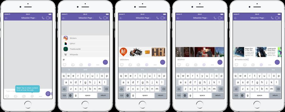 Viber 6.5.5 for iOS Chat extensions iPhone screenshot 001