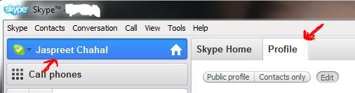 Skype hide Time