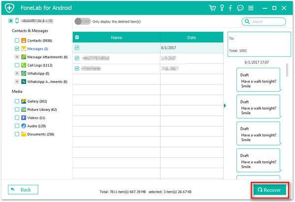 recover whatsApp chat history on android