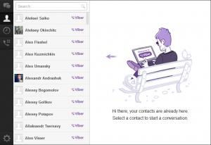 Contacts are automatically synced with your mobile Viber