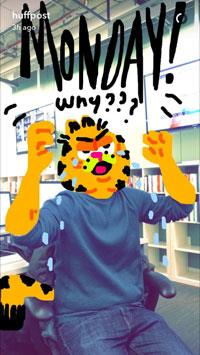 Snapchat Huffpost, My Story Drawing, Garfield
