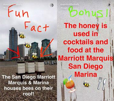 Snapchat Marketing Example, Marriott Hotel, My Story