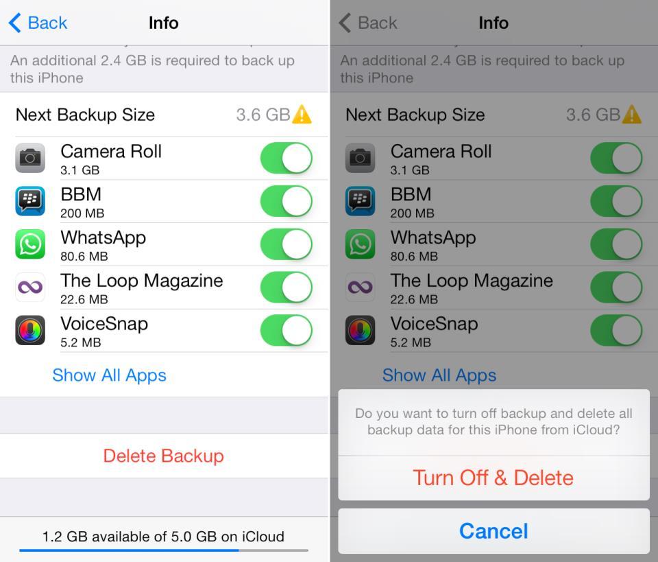 iCloud backup 3