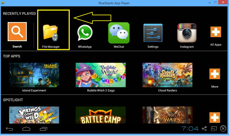 download picture from BlueStacks to your computer