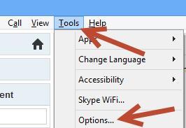 skype tool options