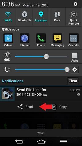 cloudsend notification