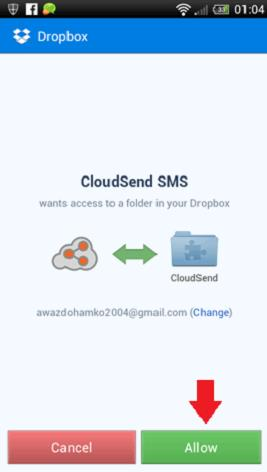 cloudsend allow