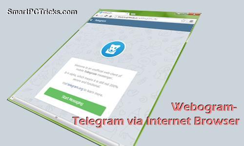 Webogram- Telegram via Internet Browser