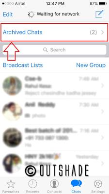 How To Hide Chat In WhatsApp iOS