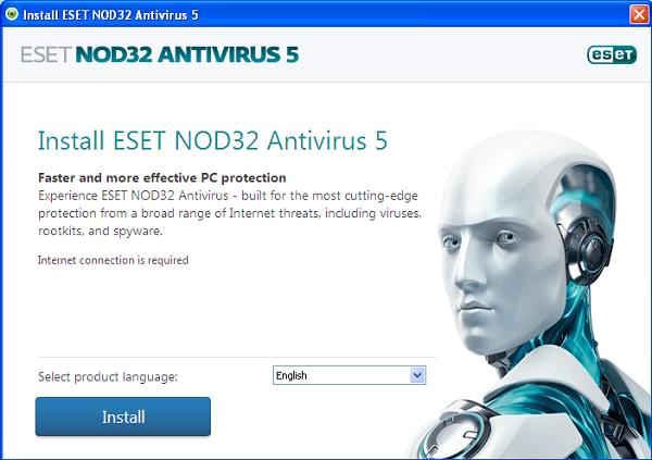 ESET NOD32 Antivirus 5 installation