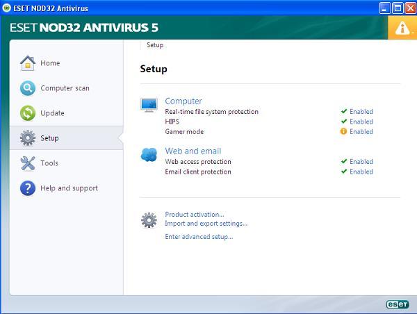 ESET NOD32 Antivirus 5 setup