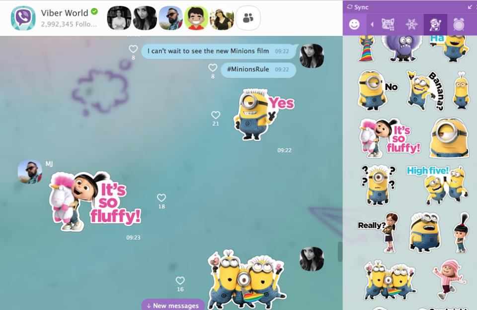 Viber 5.4.1 for iOS iPad screenshot 003