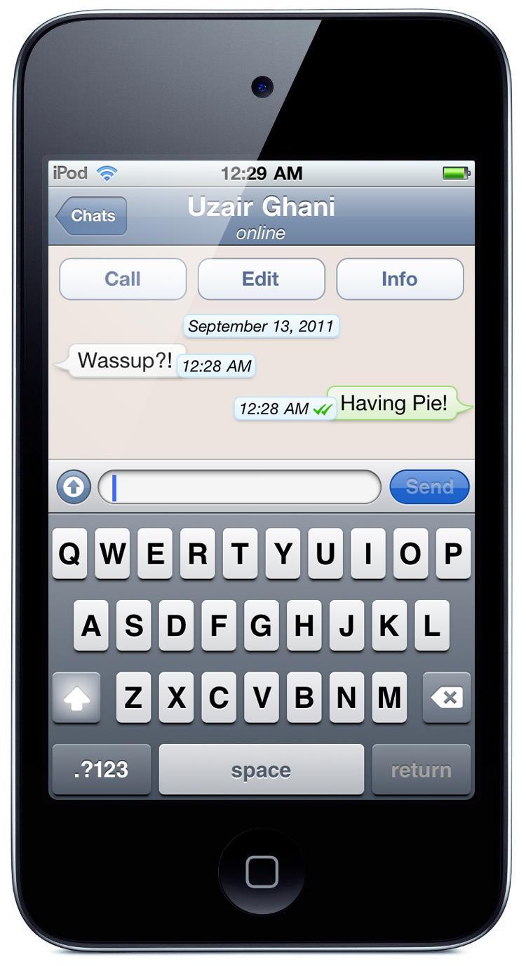 iPod touch WhatsApp