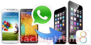 Move WhatsApp Chat History from Android to iPhone 6 Plus/iPhone 6