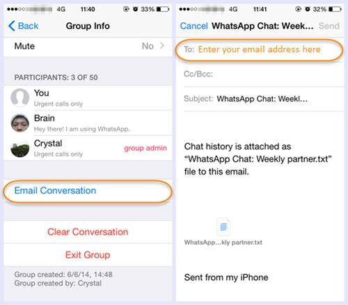Backup WhatsApp Messages from iPhone to Computer