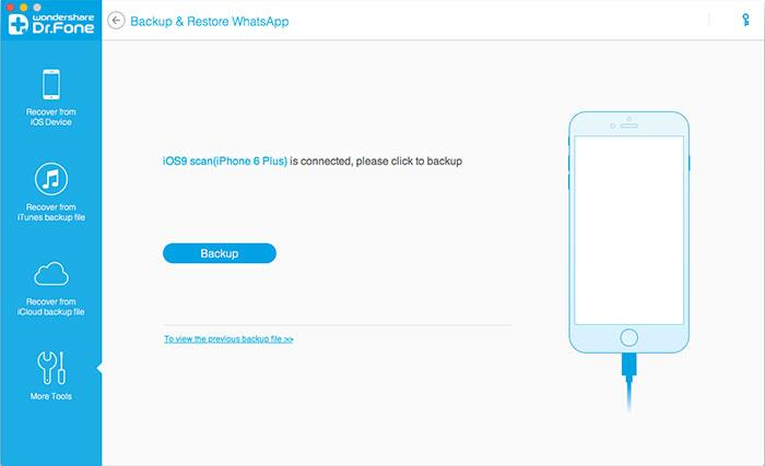 backup iPhone WhatsApp Chats