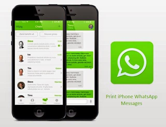 print iPhone WhatsApp messages
