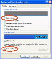 Checking your Taskbar Properties