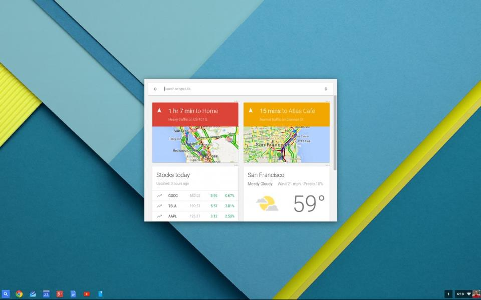 Google Now on Chromebooks