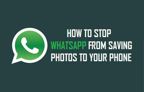 Stop WhatsApp From Saving Photos to Your Phone