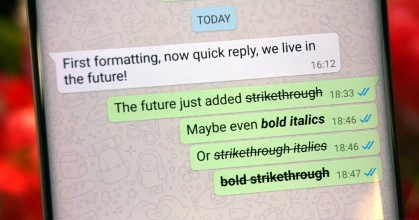 WhatsApp Update Bold, Italics and Strikethrough