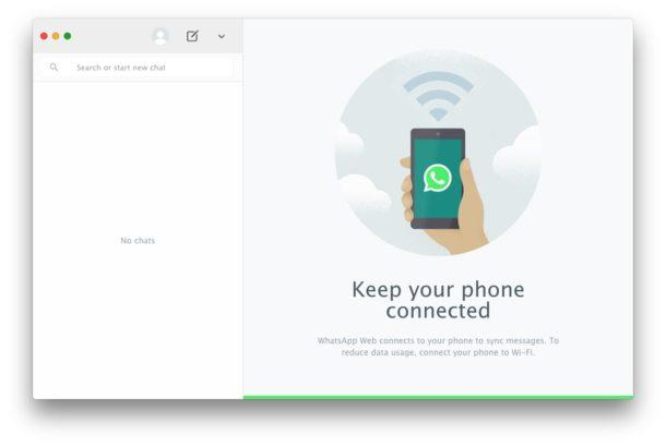 WhatsApp for Mac desktop