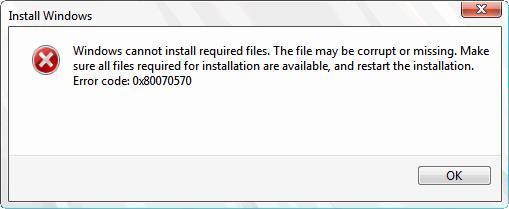 fix error code 0x80070570