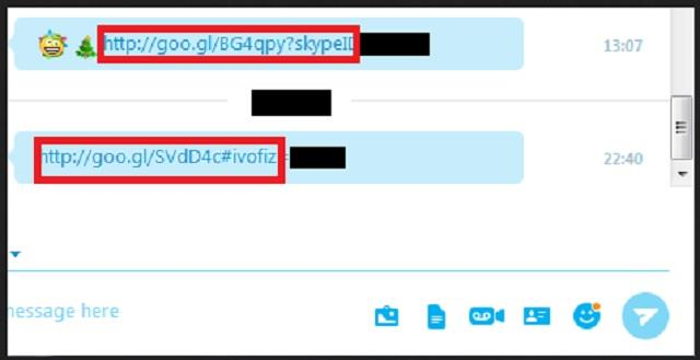 Remove Goo.gl Skype