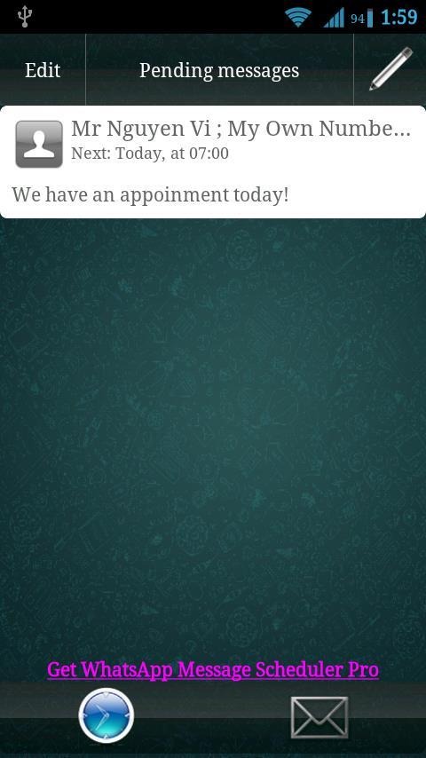Schedule Messages on WhatsApp
