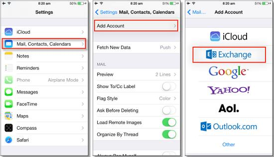 Retrieve Contacts from iPhone through Google