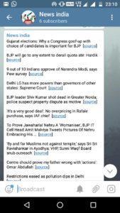 news india channel telegram