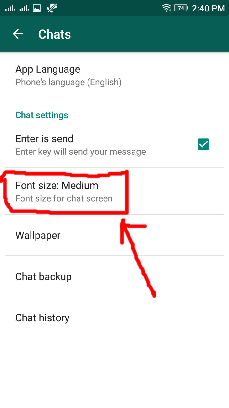WhatsApp Fonts Style