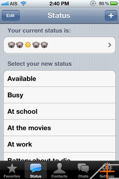 Whatsapp Status Settings