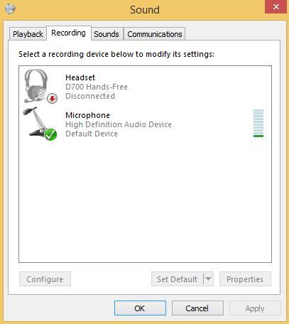 microphone settings built in